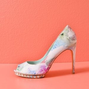 Ted Baker Leonar Floral Fabric High Heels